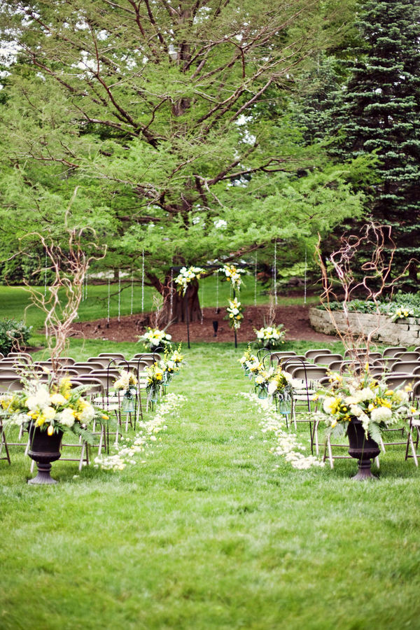 Arche faite d'un grand arbre et de vases