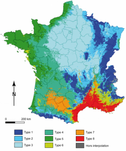 8 types de climats en France