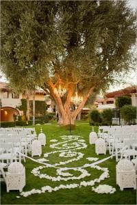 lustre pour cérémonie de mariage en extérieur