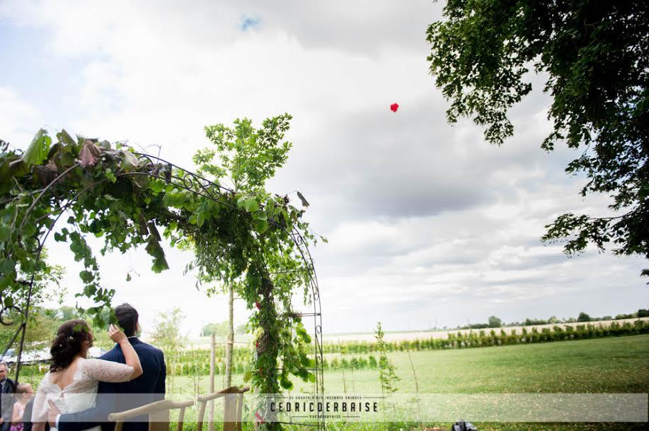 lacher de ballon par les mariés