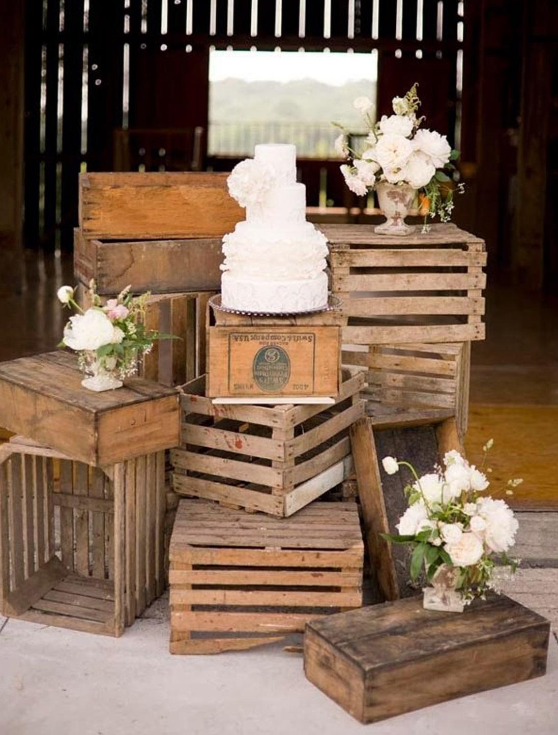 decoration mariage en bois